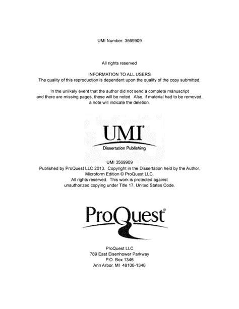 are dissertations published d webster dissertation published proquest