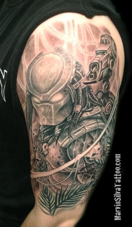 predator tattoos the predator by marvin silva tattoos