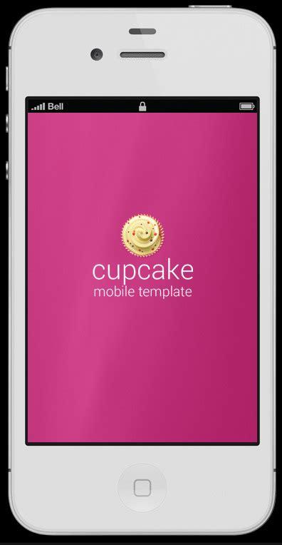 mobile splash screen templates cupcake retina ready mobile template by rv designer