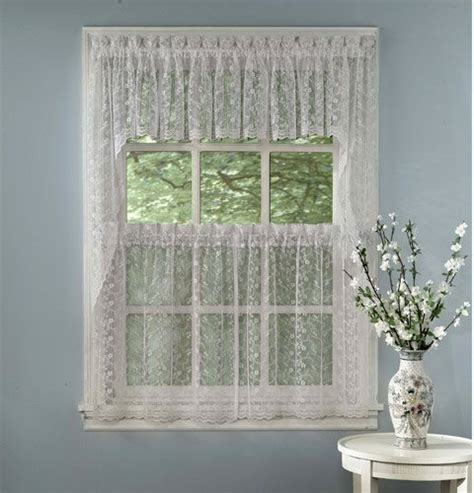 White Bathroom Window Curtains Bathroom Window Curtains Priscilla Lace Kitchen Curtain Insert Valance White