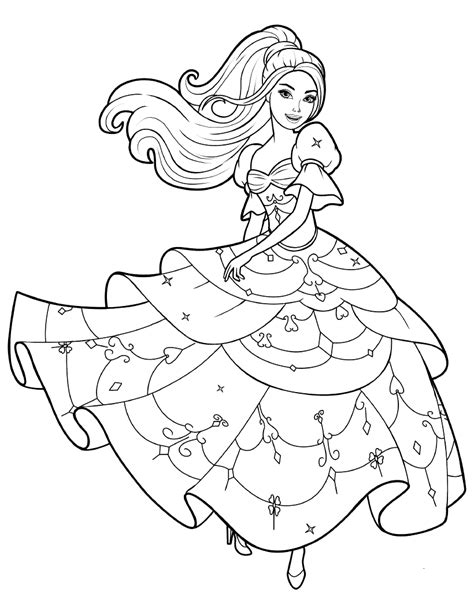 barbie dancing coloring pages coloring page dance barbie