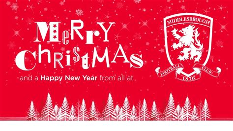 merry christmas    middlesbrough football club middlesbrough fc