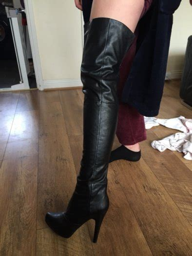 black leather thigh high boots from aldo for sale in