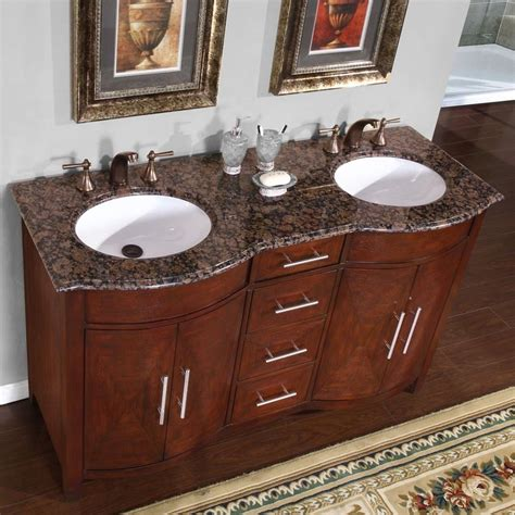 two sink bathroom countertop 58 quot granite stone countertop double bathroom white sink