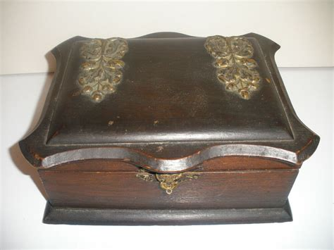 antique victorian wood early wooden jewelry box ebay