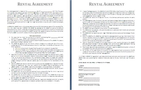 free printable rental agreement free printable rental agreements real estate forms