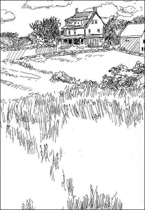 country landscape coloring page 12 best images about drawing landscapes on pinterest pen