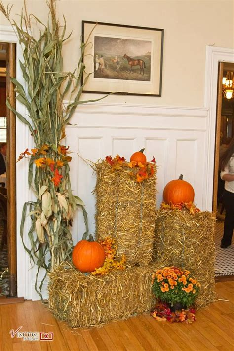 Fall Decorations With Corn Stalks by Fall Decorations Hay Bales Corn Stalks Pumpkins And