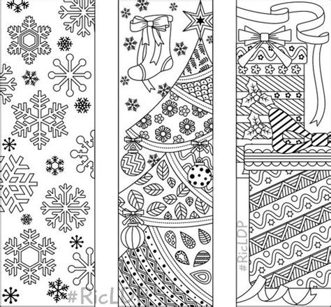 printable christmas bookmarks to color pinterest the world s catalog of ideas