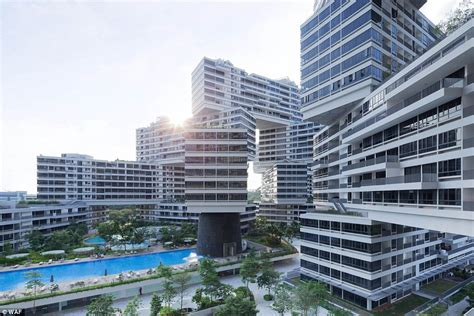 singapore s interlace apartment blocks has been named world building of the year daily mail
