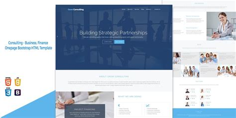 bootstrap templates for consulting grow consulting business html bootstrap template