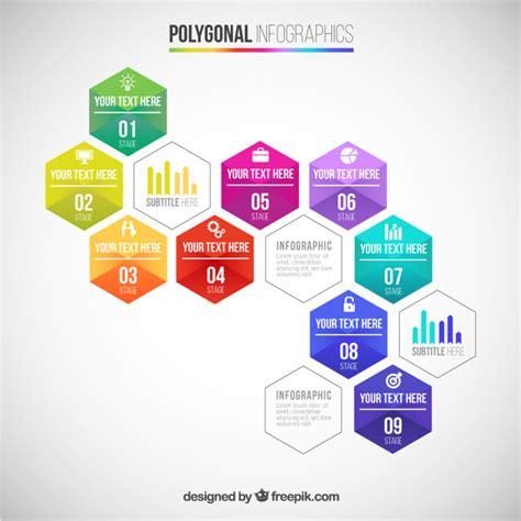polygonal infographic vector