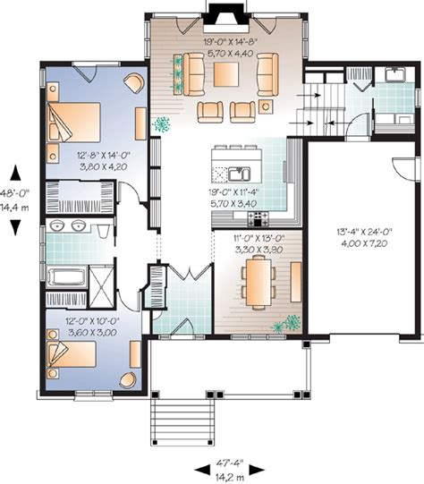 one level small house floor plan small single level house
