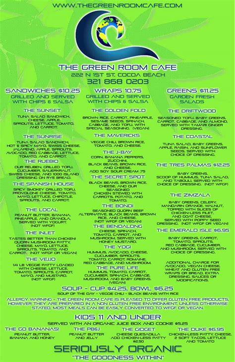 green room menu menu green room cafe