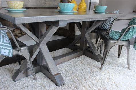 weathered grey farmhouse table shanty  chic