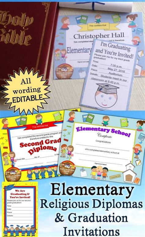 Diplomas For Grades 1 6 Elementary School Editable