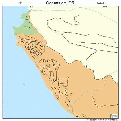 map of oceanside oregon oceanside oregon map 4154450