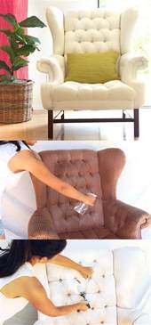 Upholstery Tutorials How To Paint Upholstery Old Fabric Chair Gets Beautiful