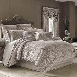 j queen new york sicily comforter set in pearl bed
