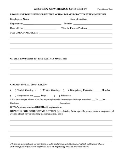 employee discipline form template free best photos of employee disciplinary print forms