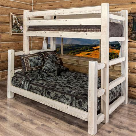 Unfinished Bunk Bed Log Beds Unfinished Homestead Size Bunk Bed Black Forest Decor