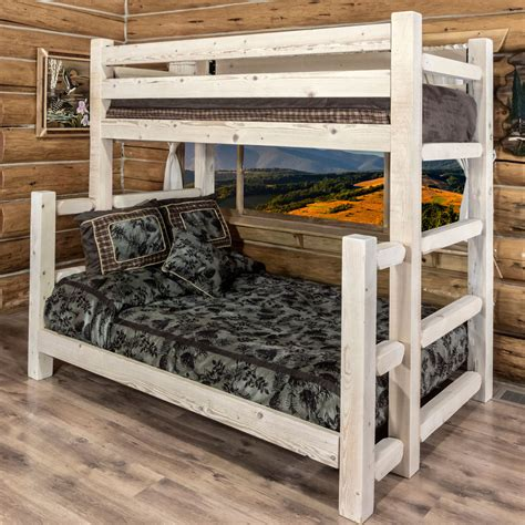unfinished wood bunk beds log beds unfinished homestead size bunk bed