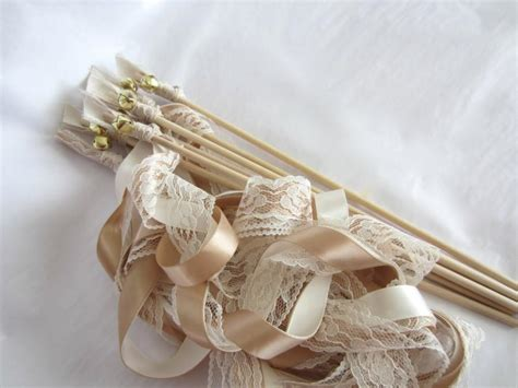 Wedding Bell Ribbon Wands by Ribbon Wands Wedding Wands 3 Ribbons And Bell Barn