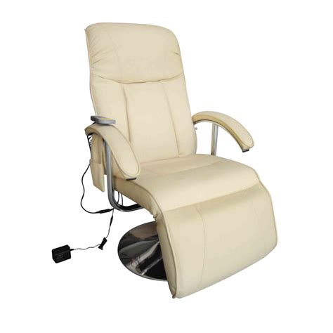 electric tv recliner massage chair creme white www