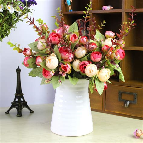 artificial flower decoration for home online get cheap arranging artificial flowers aliexpress