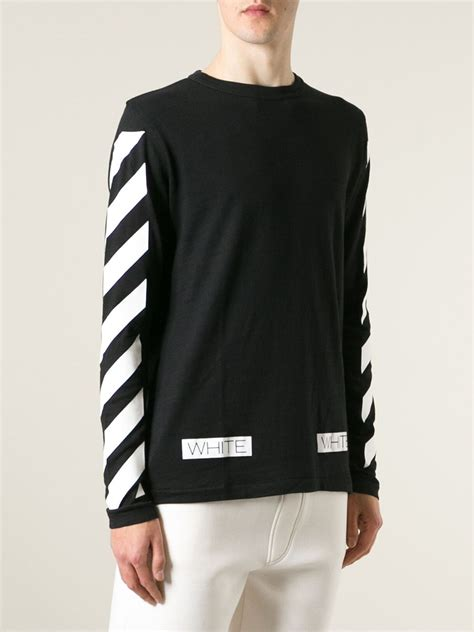 Jaket Sweater White Basic Stripe Logo Offwhite white sweater fashion skirts