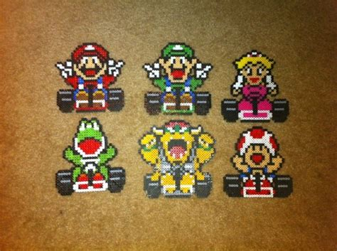 mario kart hama 78 best images about perler videogames on