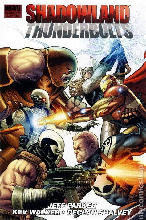 Komik Marvel Shadowland Thunderbolt shadowland thunderbolts hc 2011 marvel premiere edition