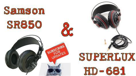 Samson Sr850 Professional Studio Headphones Eceran Diskon professional studio headphones samson sr850 superlux hd 681 part 1