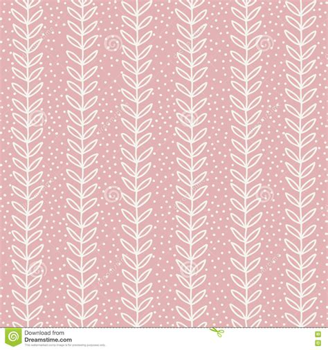 simple cute pattern wallpaper simple leaf seamless pattern hand drawn pink background