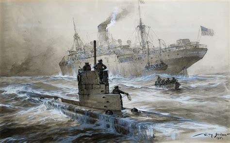 war boat u 21 sinking linda blanche ww1 war art pinterest titanic
