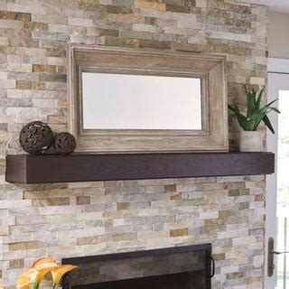 shop grey distressed wood rectangle wall mirror