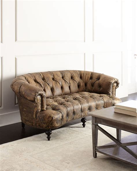 old hickory tannery leather sofa old hickory tannery carson tufted leather sofa