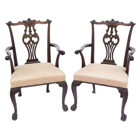 Fashioned Armchairs by Pair Of Chippendale Style Armchairs