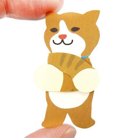 Cat Shaped by Cat Shaped Mini Animal Hug Gift Tag Card Set Dotoly