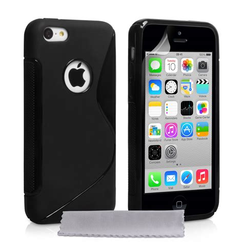 caseflex iphone 5c silicone gel s line black m