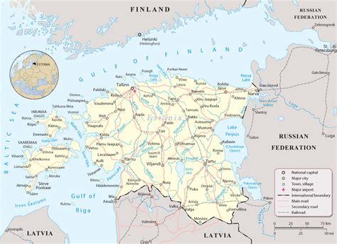 map of estonia map of estonia and europe