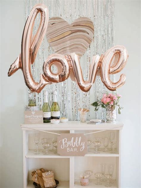gold love themes rose gold love balloon bridal showers pinterest rose