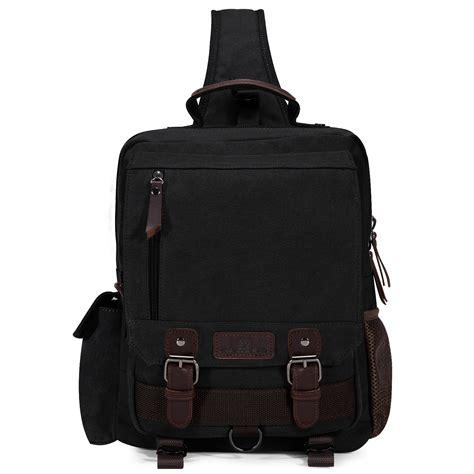 Sling Bag Nature Hike canvas travel hiking cross messenger shoulder back pack sling chest bag ebay