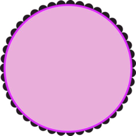 scalloped round frame clipart | i2clipart royalty free