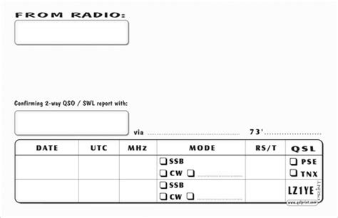 print   kinds  qsl cards
