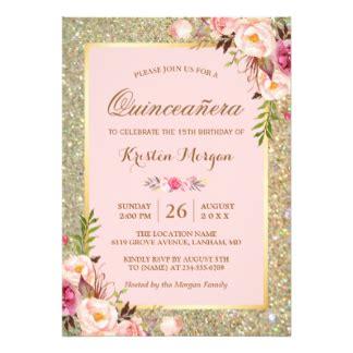 Quincea 241 Era Invitations Zazzle 15 Invitations Templates