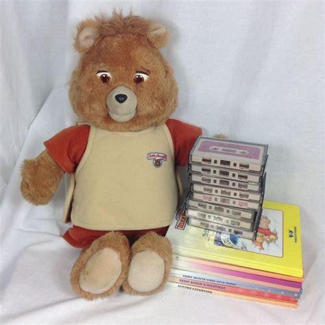 teddy ruxpin cassette teddy ruxpin doll 8 cassette books vtg 1986