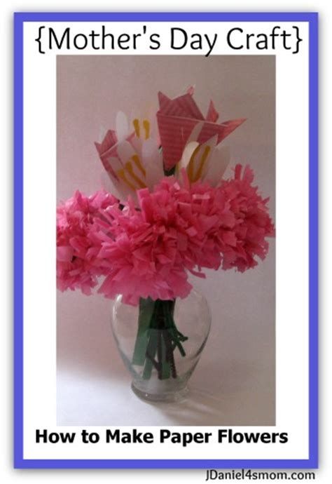 How Can We Make Paper Flowers - s day craft how to make paper flowers