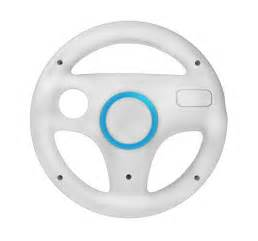 Steering Wheel And Pedals For Nintendo Wii Racing Steering Wheel For Nintendo Wii White Colour