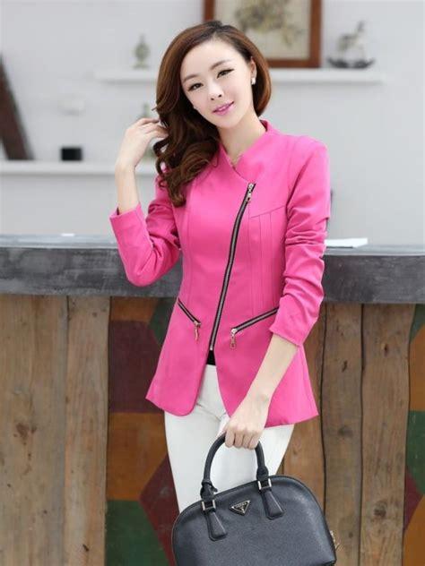 Jeliko Pink Baju Kantor Masa Kini Fashion Wanita Blouse Import Sg model baju wanita terbaru hairstylegalleries